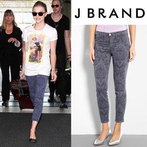 J BRAND • Baroque Print Crop Skinny Jeans